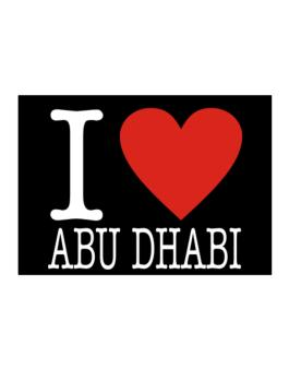 I Love Abu Dhabi Classic Sticker