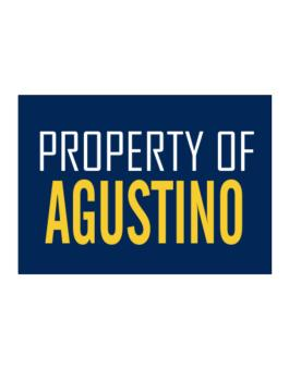 Property Of Agustino Sticker
