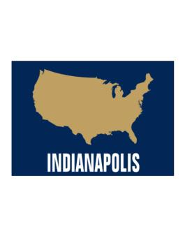 Indianapolis - Usa Map Sticker