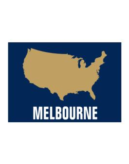 Melbourne - Usa Map Sticker