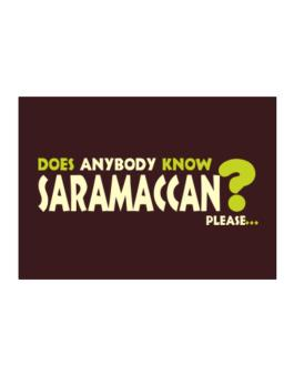 Does Anybody Know Saramaccan? Please... Sticker
