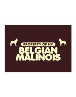 Property Of My Belgian Malinois Sticker