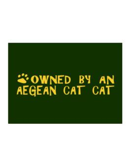 Owned By An Aegean Cat Sticker