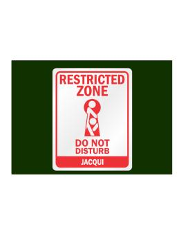 Restricted Zone - Do Not Disturb Jacqui Sticker