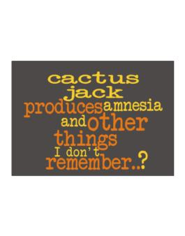 Cactus Jack Produces Amnesia And Other Things I Dont Remember ..? Sticker