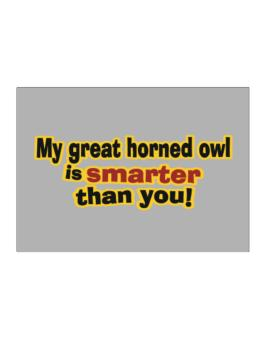 My Great Horned Owl Is Smarter Than You! Sticker