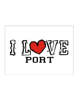 I Love Port Sticker