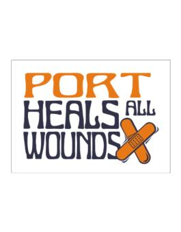 Port Heals All Wounds Sticker