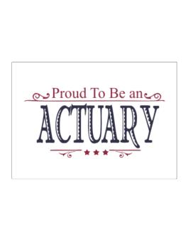 Proud To Be An Actuary Sticker