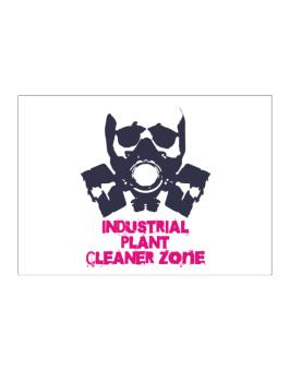 Industrial Plant Cleaner Zone - Gas Mask Sticker
