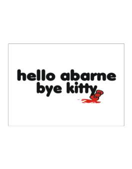 Hello Abarne Bye Kitty Sticker