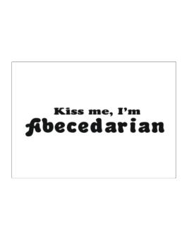 Kiss Me, Im Abecedarian Sticker
