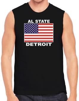 """ Detroit - US Flag "" Sleeveless"