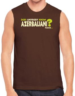 Does Anybody Know Azerbaijani? Please... Sleeveless