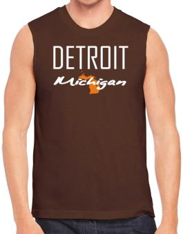 """ Detroit - State Map "" Sleeveless"