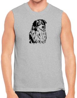 Australian Shepherd Face Special Graphic Sleeveless