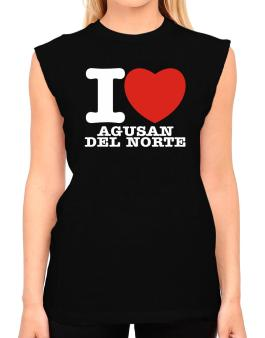 I Love Agusan Del Norte T-Shirt - Sleeveless-Womens