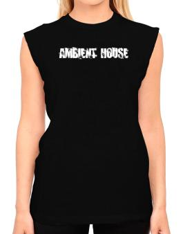 Ambient House - Simple T-Shirt - Sleeveless-Womens