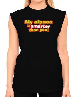 My Alpaca Is Smarter Than You! T-Shirt - Sleeveless-Womens