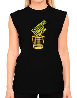 If Genmaicha Hinders Your Studies, Drop Them T-Shirt - Sleeveless-Womens