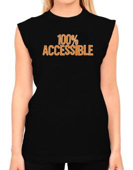 100% Accessible T-Shirt - Sleeveless-Womens