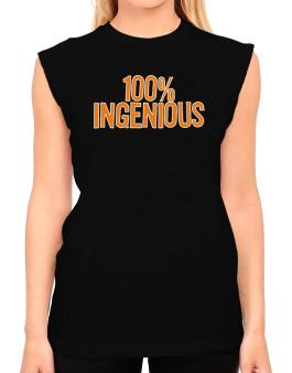 100% Ingenious T-Shirt - Sleeveless-Womens