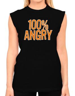 100% Angry T-Shirt - Sleeveless-Womens