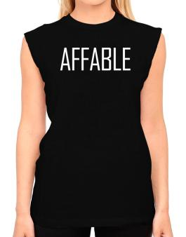 Affable - Simple T-Shirt - Sleeveless-Womens