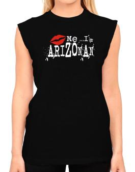 Kiss Me, Im Arizonan - Lips T-Shirt - Sleeveless-Womens