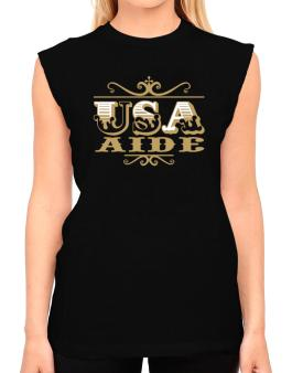 Usa Aide T-Shirt - Sleeveless-Womens
