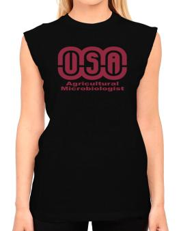 Usa Agricultural Microbiologist T-Shirt - Sleeveless-Womens