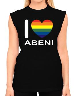 I Love Abeni - Rainbow Heart T-Shirt - Sleeveless-Womens