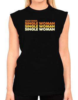 Madonna Single Woman T-Shirt - Sleeveless-Womens