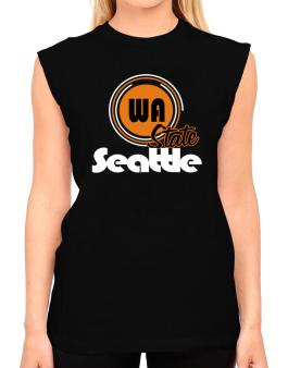Seattle - State T-Shirt - Sleeveless-Womens
