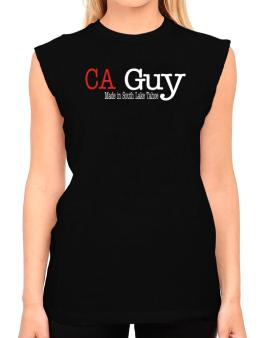 Guy Made In South Lake Tahoe T-Shirt - Sleeveless-Womens