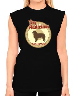 Dog Addiction : Australian Shepherd T-Shirt - Sleeveless-Womens