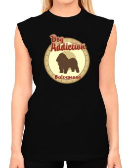 Dog Addiction : Bolognese T-Shirt - Sleeveless-Womens