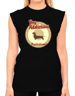 Dog Addiction : Dachshund T-Shirt - Sleeveless-Womens