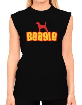 Breed Color Beagle T-Shirt - Sleeveless-Womens