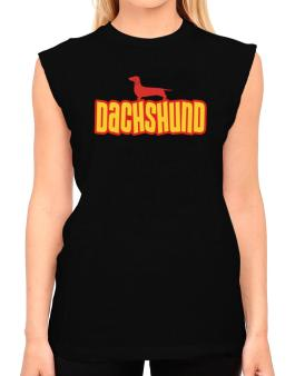 Breed Color Dachshund T-Shirt - Sleeveless-Womens