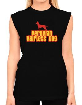 Breed Color Peruvian Hairless Dog T-Shirt - Sleeveless-Womens