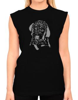 Labradoodle Face Special Graphic T-Shirt - Sleeveless-Womens