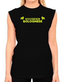 Property Of My Bolognese T-Shirt - Sleeveless-Womens