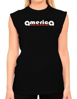 A-merica Arizona T-Shirt - Sleeveless-Womens