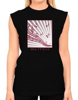 Glitch - Musical Notes T-Shirt - Sleeveless-Womens