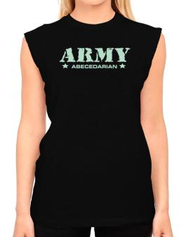 Army Abecedarian T-Shirt - Sleeveless-Womens