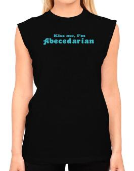 Kiss Me, Im Abecedarian T-Shirt - Sleeveless-Womens