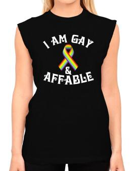 I Am Gay And Affable T-Shirt - Sleeveless-Womens