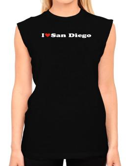 I Love San Diego T-Shirt - Sleeveless-Womens