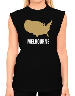 Melbourne - Usa Map T-Shirt - Sleeveless-Womens